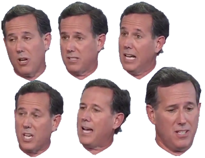 Stressed out Rick Santorum faces angry annoyed upset hair eyes