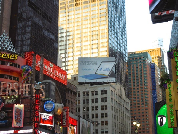 Surface Pro 3 billboard Times Square NYC