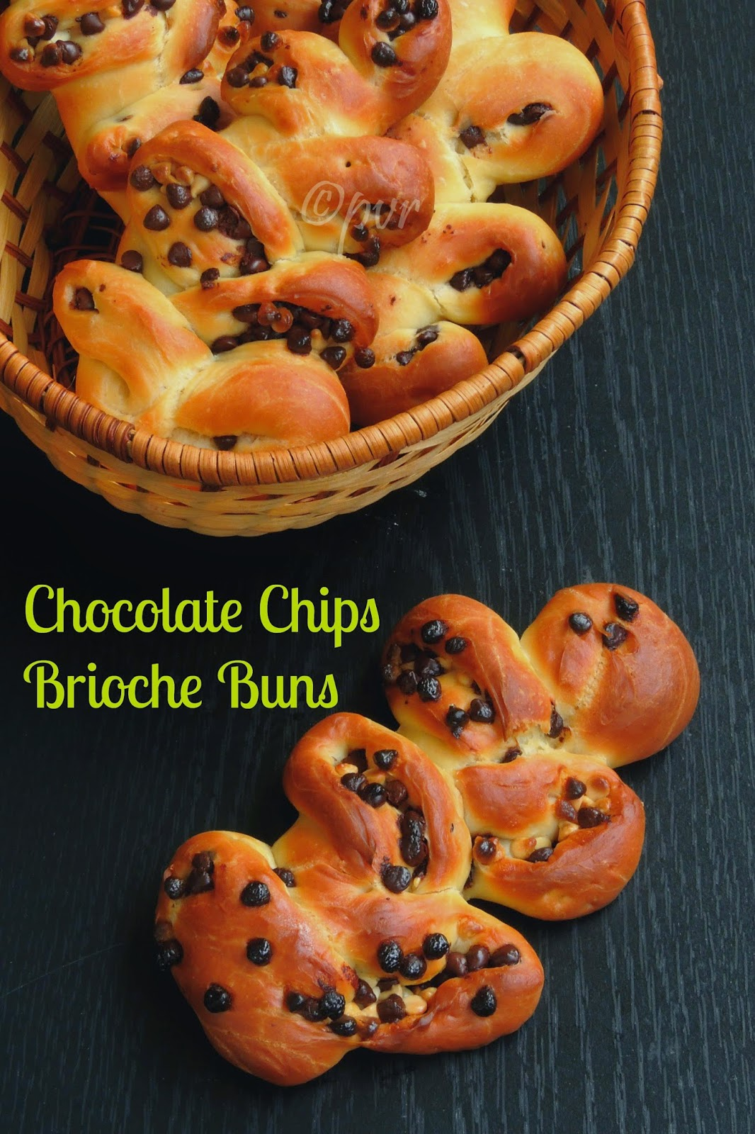 Chocolate Chips Brioche Buns