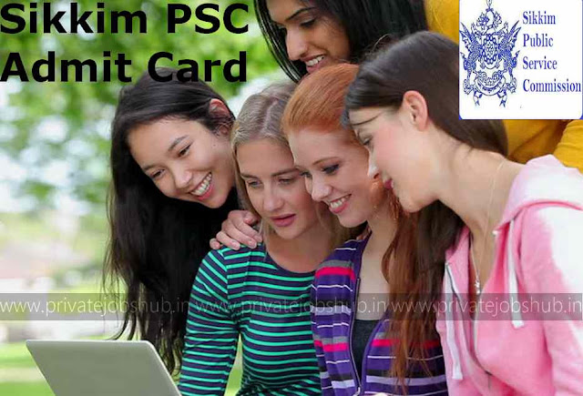 Sikkim PSC Admit Card