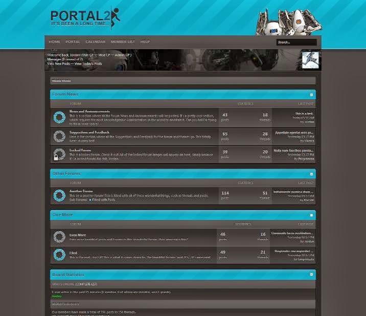 Portal 2 Theme