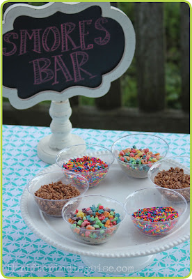 Cereal and Sprinkles for S'mores