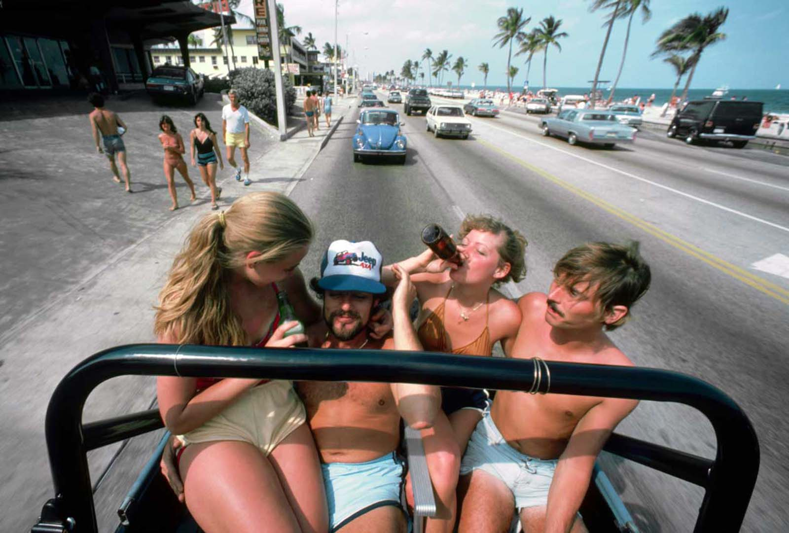 Cruising the streets of Fort Lauderdale. 1982.