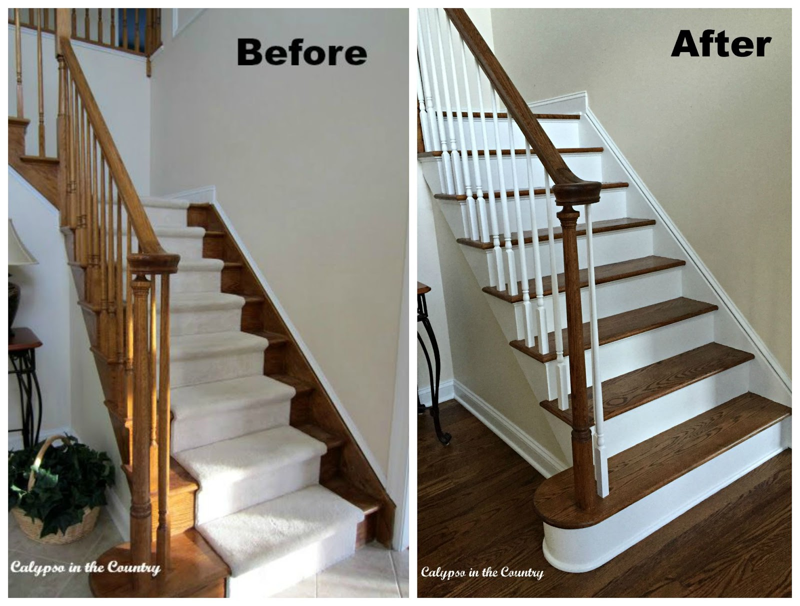 Foyer Staircase Before and After