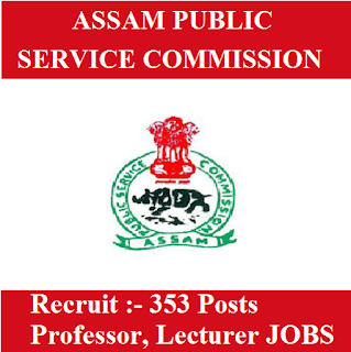 Assam Public Service Commission, APSC, PSC, Assam, Professor, Lecturer, Graduation, freejobalert, Sarkari Naukri, Latest Jobs, apsc logo