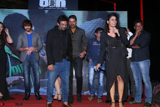 Shravya Reddy in Deep Neck Leg Split Black Gown at Rogue Movie Teaser Launch 1st March 2017 055.JPG