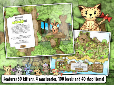 Screenshot from Kitten Sanctuary Game showing kittens from the game