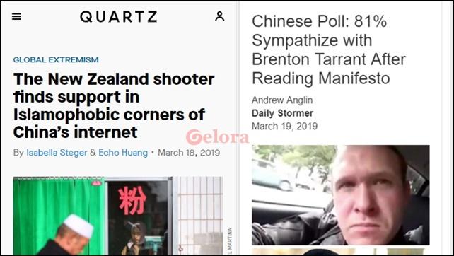 Pengguna Internet di China Dukung Pelaku Penembakan Masjid di Selandia Baru