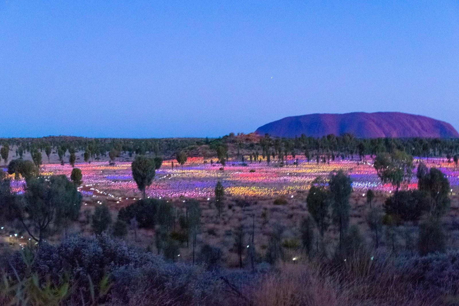 the field of light uluru