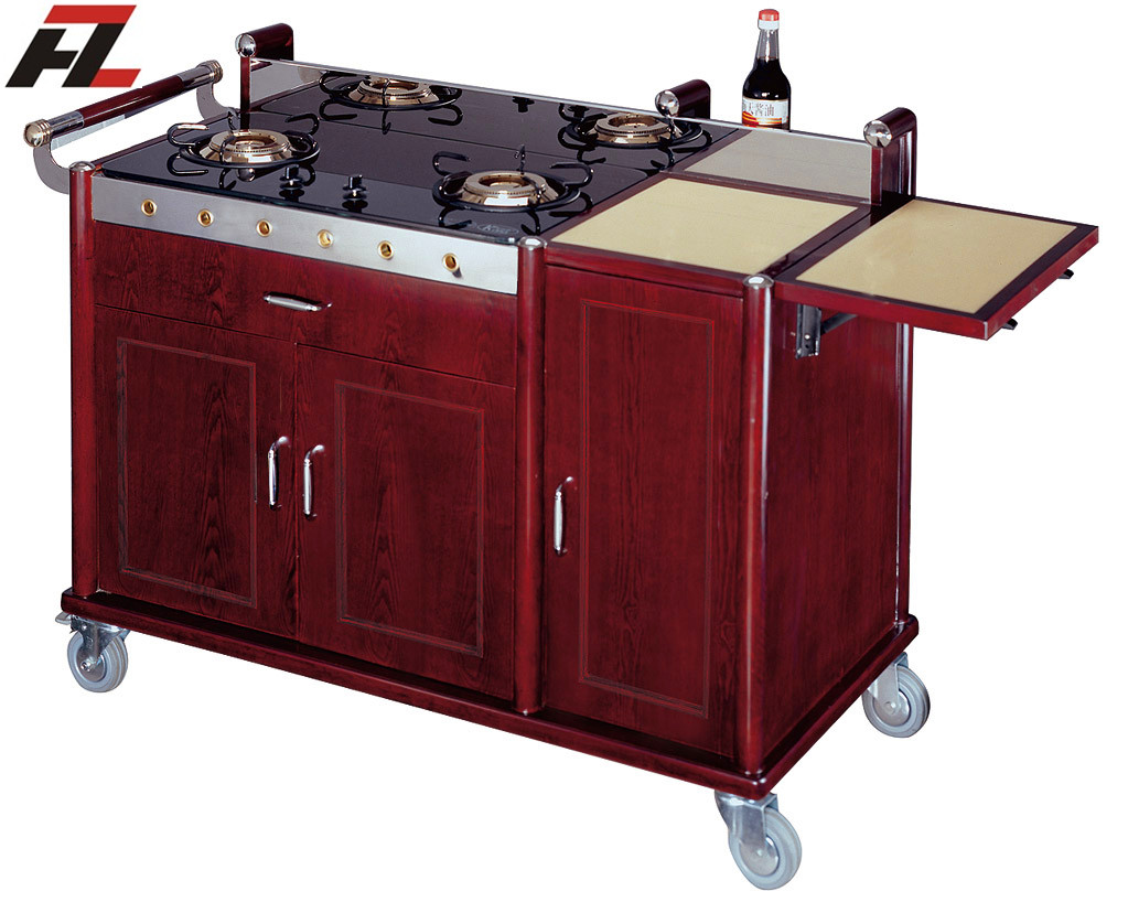 China hotel supplies manufacturer Mobile Kitchen Cart