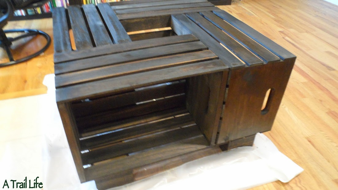 DIY Furniture - Crate Coffee Table - DIY Craft Projects