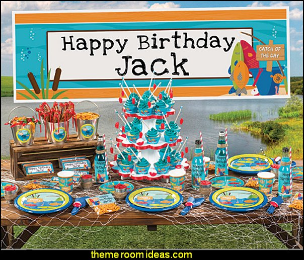 Birthday Party Themes  Fishing Party Supplies  boys party ideas - theme ideas for boys party