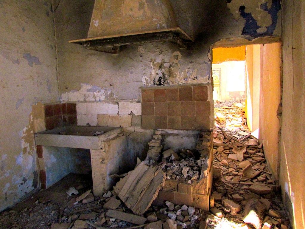 Urban Exploration Abandoned Bombed Town Belchite Spain
