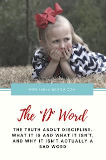 "The ""D"" Word: Discipline"