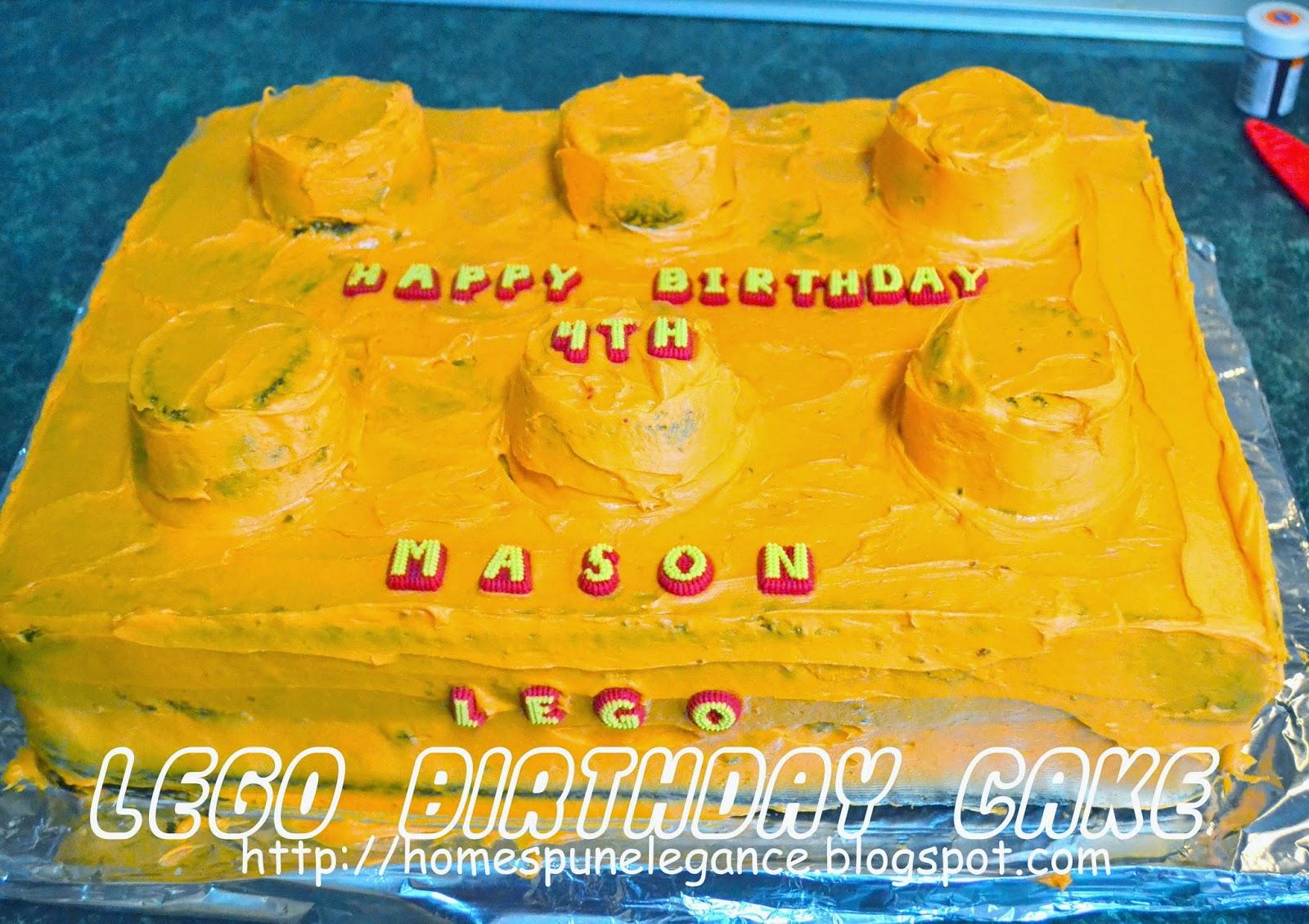 Homespun Elegance Diy Lego Birthday Cake