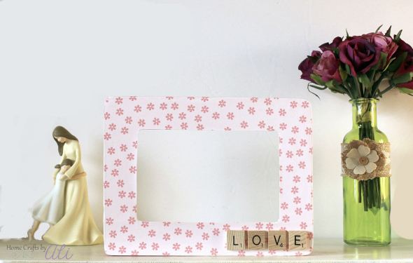 Love Scrabble Tile Photo Frame