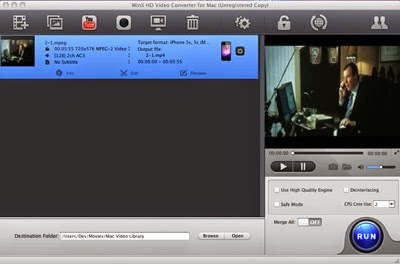 WinX HD Video Converter Mac