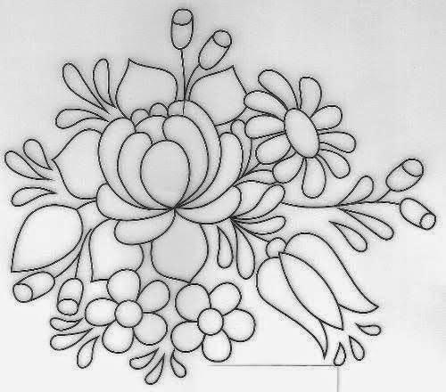 Flower Dibujo: Dibujos Y Plantillas Para Imprimir: Dibujos De Flores Para