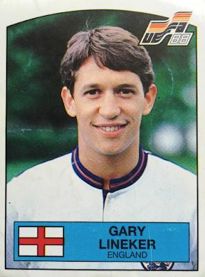 Figurina Gary Lineker Euro '88