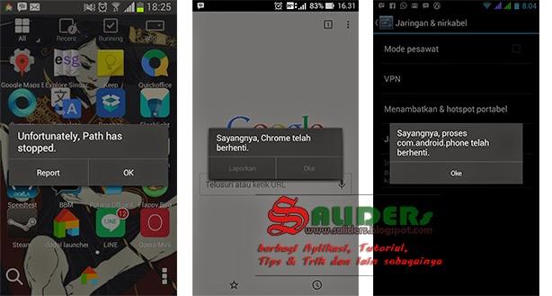 """Mengatasi """"Sayangnya Aplikasi Telah Berhenti"""" atau Force Close di Smartphone Android"""