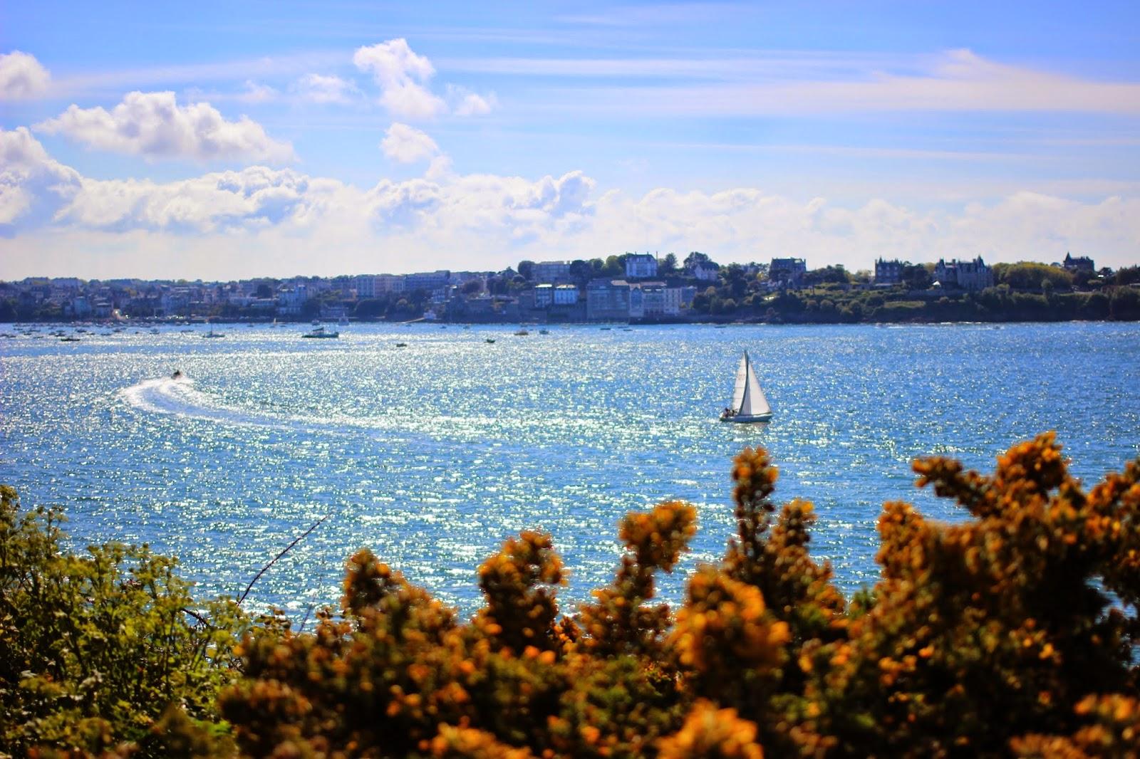 Le Chameau Bleu - Blog Voyage Saint Malo France - Vue depuis la cité d'Aleth - Saint Malo - Paysage malouine