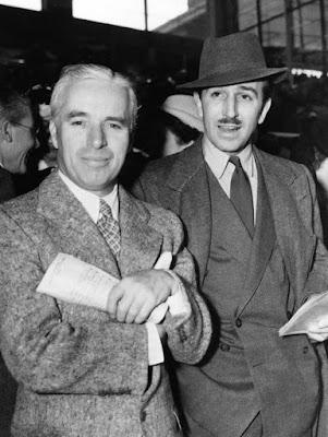 Чарли Чаплин и Уолт Дисней, 1939 г.