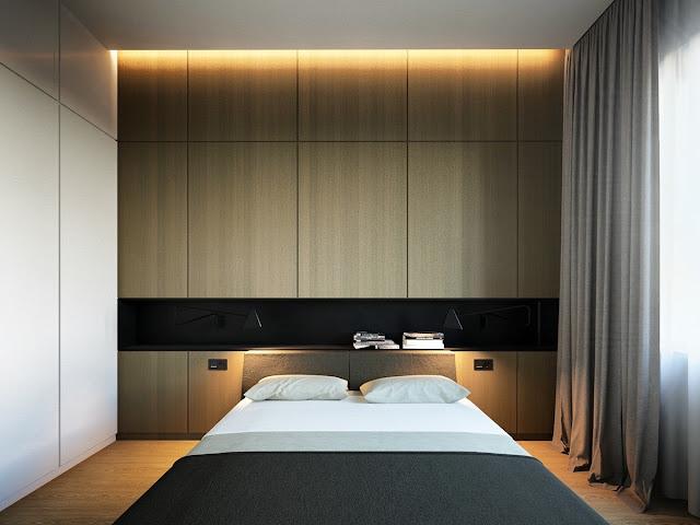 лаконичный дизайн современной спальни