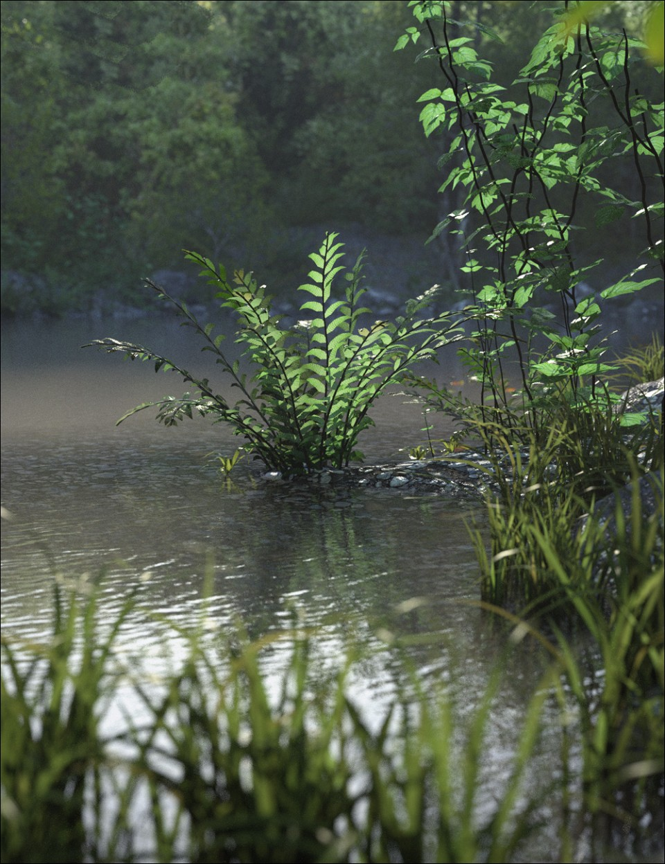 Daz3D Fern Lake Bundle Download Free - TehkniX
