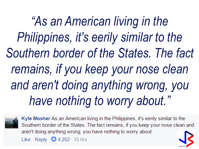 """A social media post from The New York Times linked in a somewhat """"judgemental"""" article citing President Rodrigo Duterte's war on drugs as """"slaughtering"""" drug addicts and pushers like animals written by a NYT photo journalist named Daniel Berehulak. With three thousand comments as of this writing, most respondents speak their mind with majority of which are saying that they are fine and feel safer under the Duterte leadership in spite of the so called """"EJKs"""". One comment that got  about nearly five thousand thumbs ups, is from """"an American living in the Philippines"""" by the name of Kyle Mosher. He said: """"As an American living in the Philippines, it's eerily similar to the Southern border of the States. The fact remains, if you keep your nose clean and aren't doing anything wrong, you have nothing to worry about.""""  Another commenter by the name of Raphael Gabriel said """"We are good. You need more stories? Then focus on the positive things he's [referring to President Duterte] done for this country."""" Slamming the recent trend of local and foreign media focusing only on the so called """"killings"""" and negative news about president Duterte without putting the accomplishments and good results of his leadership  in the highlights.  Another commenter also said that the word """"slaughter"""" is not  an appropriate term to be used to describe  the deaths resulted from the present war on drugs. She said that Filipinos feel safer now to go outside and walk anytime without the fear of being mugged by drug addicts like before and that the taxes paid by the citizens will not go directly inside the plunderers pockets.     Despite the obviously biased write-up with intent to darken and make President Duterte's war against drugs morbid and inhumane, the Filipinos, to where the question is being addressed, stood for what is really happening  in the midst of growing """"cloud fear""""  from the campaign to eliminate the worst cancer of society, which is drug addiction. There is indeed """"fear"""" , but not"""