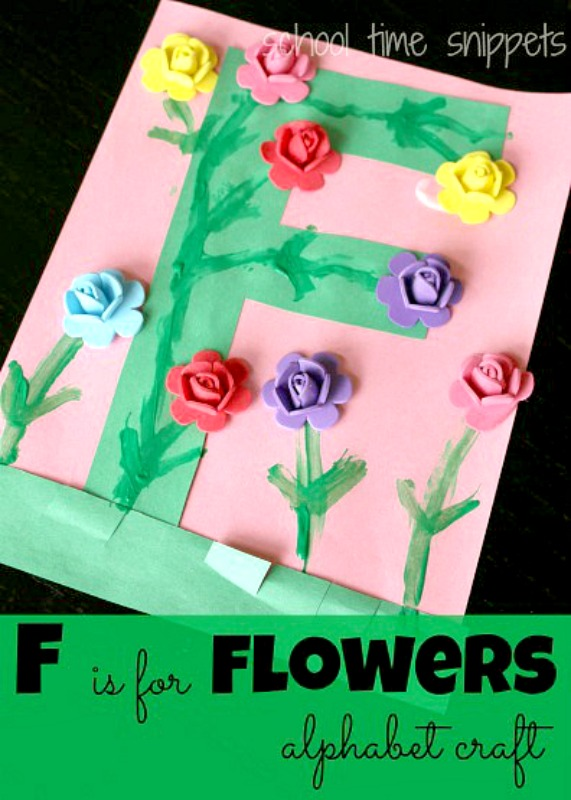 f is for flower letter craft