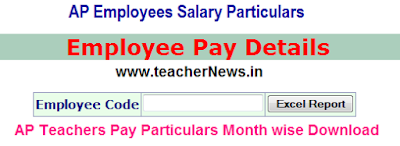 AP Employee Pay Details Teachers Salary Particulars Download DDO Request treasury.ap.gov.in