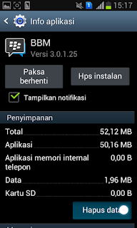 Cara Logout BBM di Hp Android