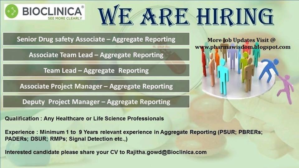 BIOCLINICA – Urgently Hiring Multiple Positions – PHARMA JOBS
