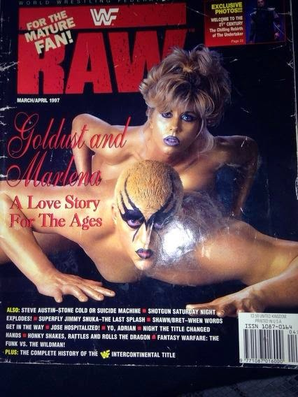 WWE - WWF RAW MAGAZINE - MARCH/APRIL 1997 COVER ft. GOLDDUST AND MARLENA