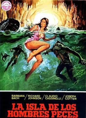 Poster de La Isla de los hombres peces, una película de Sergio Martino