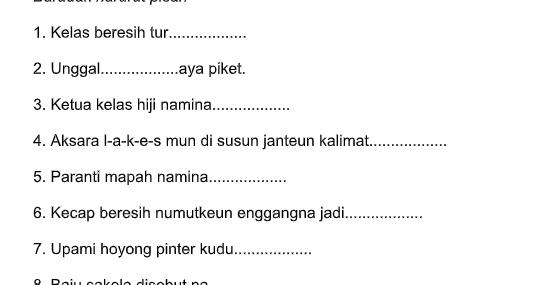 Soal Pat Bahasa Sunda Kelas 1 Sd Ops Sekolah Kita