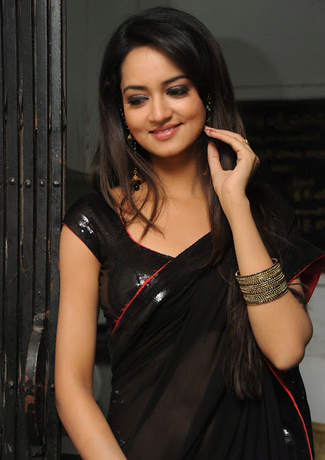 Actress Shanvi Srivastava in Black Saree Photos