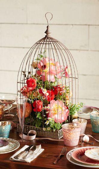 dekoracje z ptasich klatek