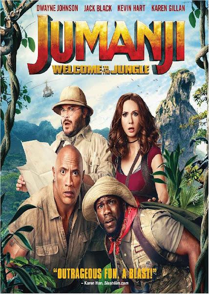 Poster of Jumanji Welcome to the Jungle (2017) Dual Audio Hindi [Cleaned] 720p HDRip ESubs Download