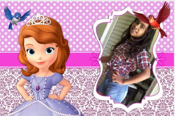 Molduras de fotos da princesinha Sofia