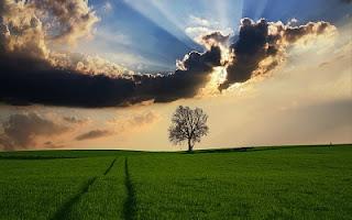 Raggi di sole nuvola