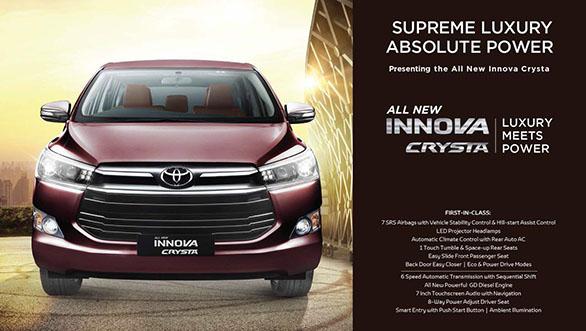 All New Toyota Innova Crysta diluncurkan di India