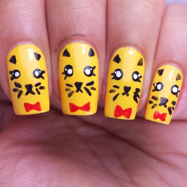 Freehand Nail Art Challenge Animal