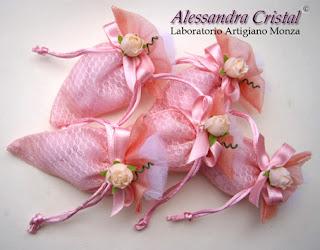 bomboniere portaconfetto economica battesimo rosa