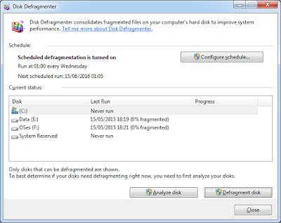 Atasi Laptop Lambat dengan Disk Deframent Tools