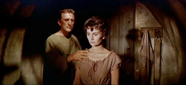Kirk Douglas Jean Simmons Spartacus movieloversreviews.filminspector.com