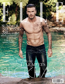 David Beckham Elle July 2012 Cover