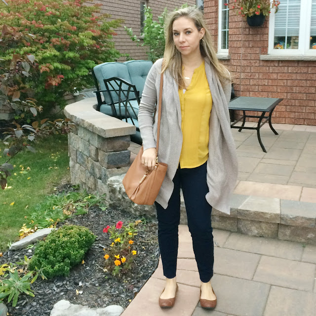 fall style cardigan and stella dot sunday bag