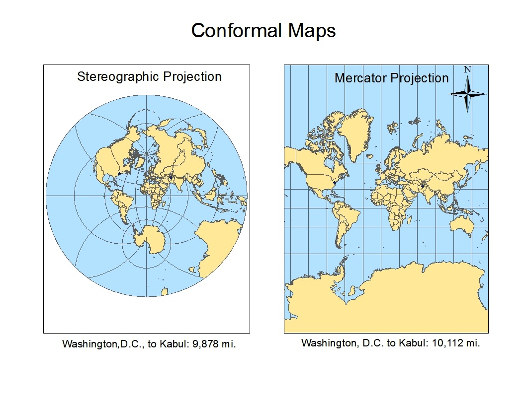 What are the three types of distance that geographers use