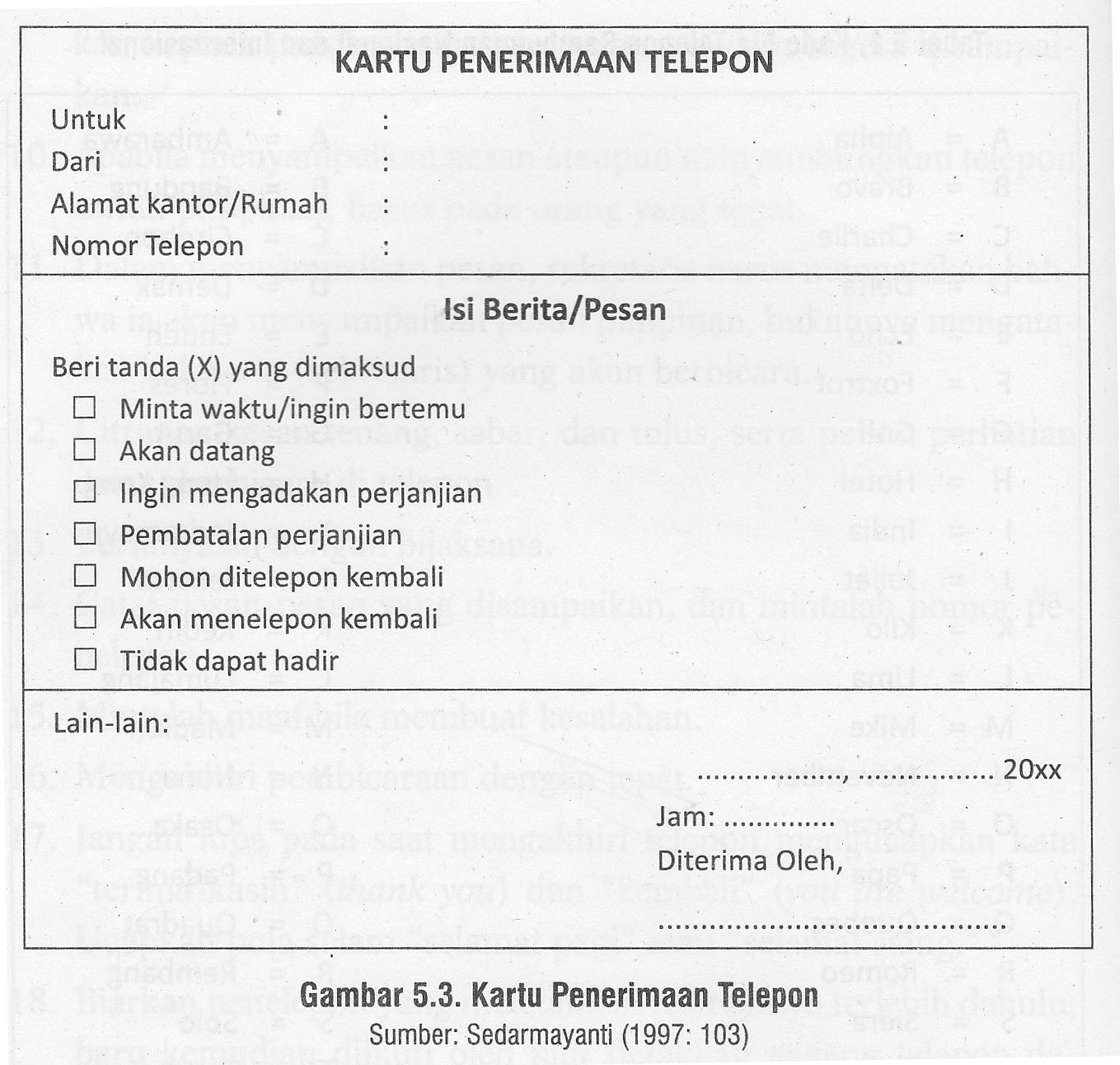Tugas Kesekretarisan Skenario Penerimaan Telepon Dan Tamu Rohmatul